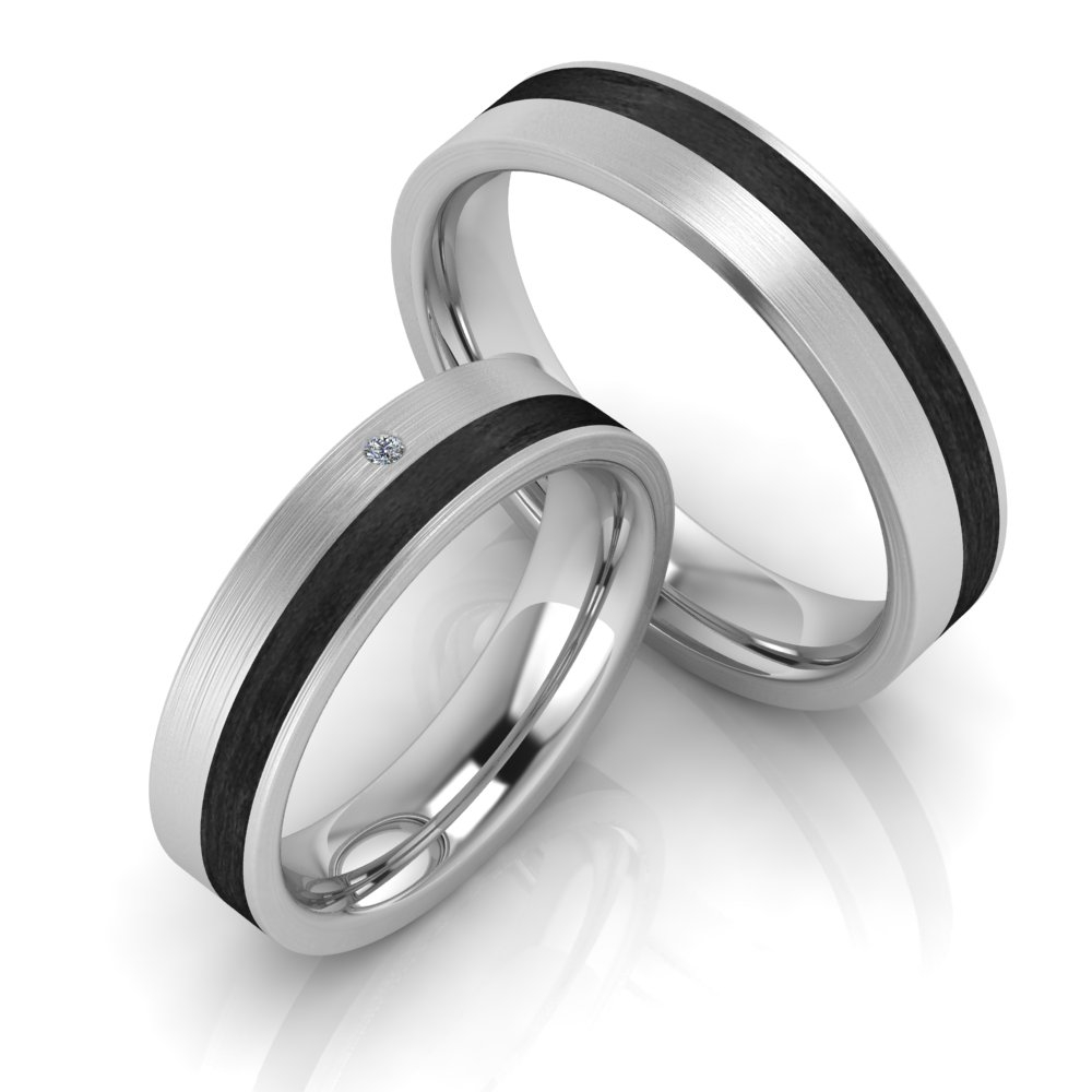 Carbon Ringe | Carbonringe Titanfactory – Trauringshop24.de | Die ...