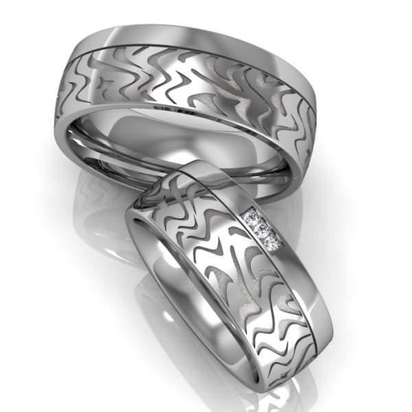 Verlobungsringe Muster Silber Brillanten ID116