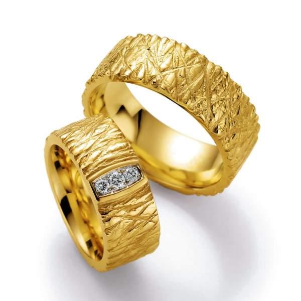Trauringe Gelbgold Vulcano Brillant 02-23270