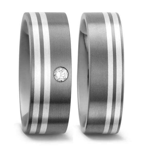Trauringe Silber Brillanten Titan Factory 50958_005
