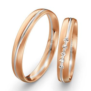 Trauringe-Weissgold-Rotgold-mehrere-Diamanten