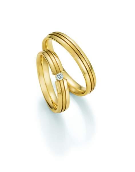 Trauringe Gold Honeymoon Solid Brillant 66-48070