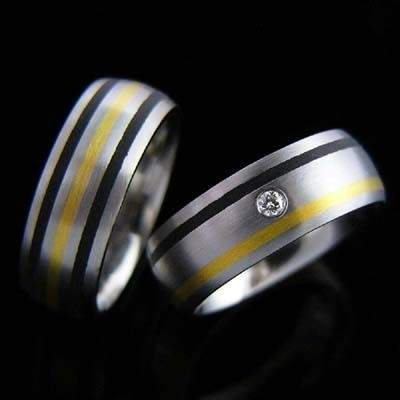 Trauringe Edelstahl Gold Brillant SCHOOP.Design R85-R70