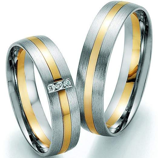 Trauringe Gold Palladium Honeymoon Pure Brillant 66-32130
