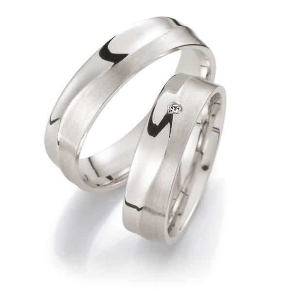 Verlobungsringe Silber Brillant Weidner 62015