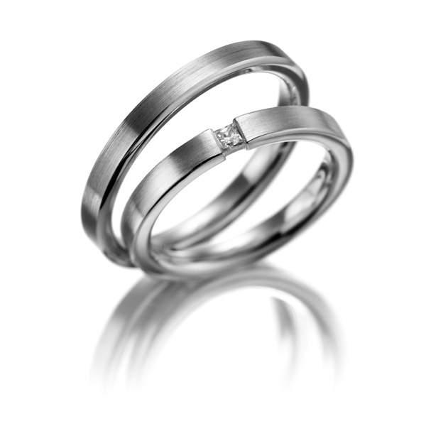 Verlobungsringe Silber Brillant Weidner 61044