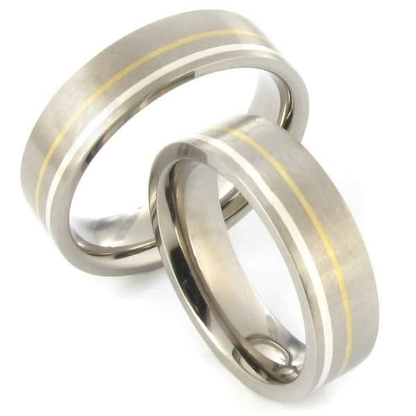 Verlobungsringe Titan Silber Gold Cilor 20031