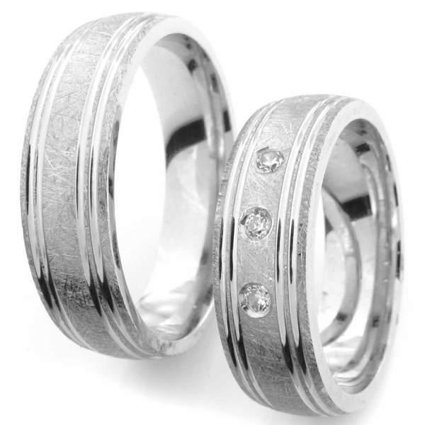 Verlobungsringe Silber Zirkonia Cilor CRG46