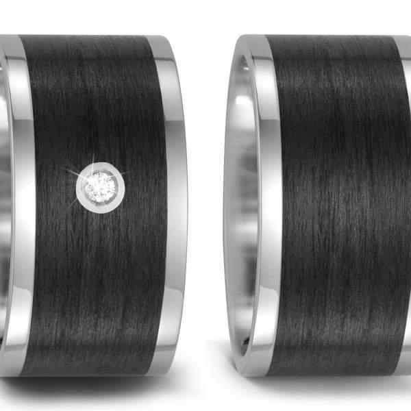 Trauringe Carbon Brillant Titan Factory 52476