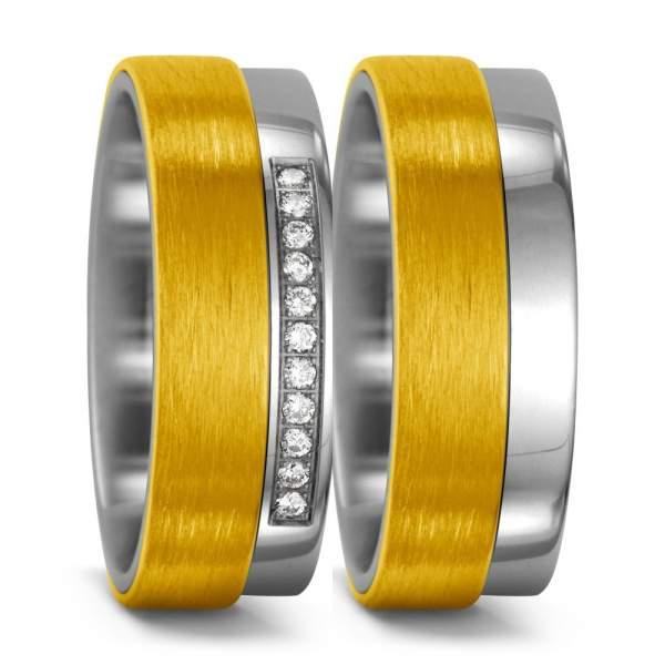 Trauringe Gelbgold Brillant Titan Factory 51986