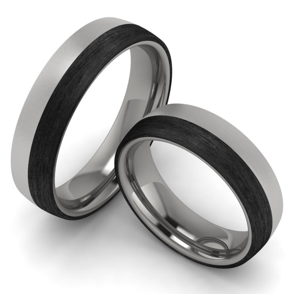 Verlobungsringe Titan Carbon 6 mm  TrauringShop24.de