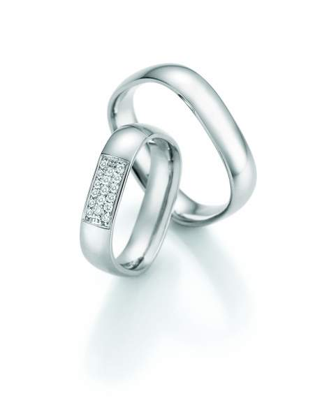 Trauringe Palladium Honeymoon Quadra Brillant 66-49070