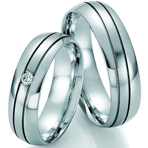 Trauringe Palladium Honeymoon Solid Brillant 66-33010