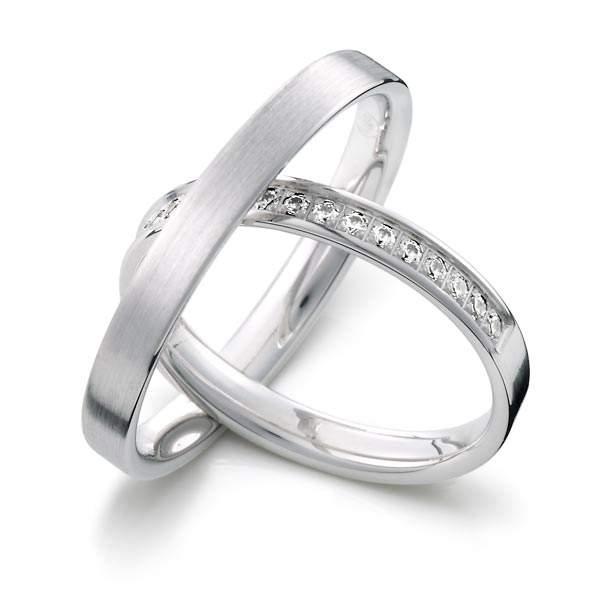 Verlobungsringe Silber Brillant Weidner 62217