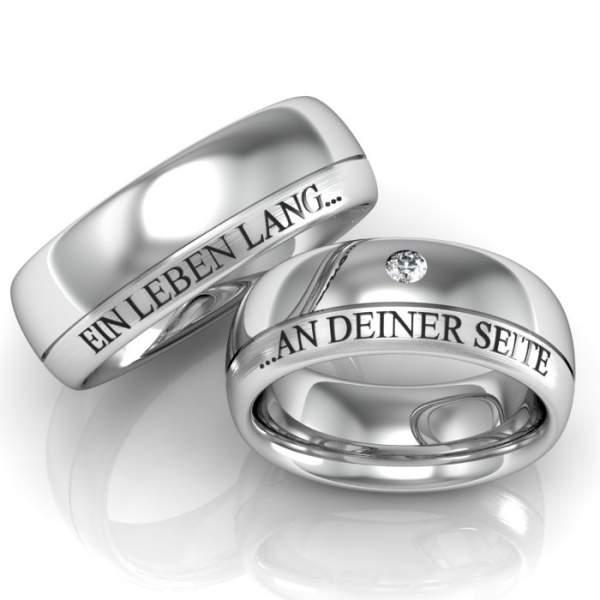 Verlobungsringe Lasergravur Steinbesatz ID247