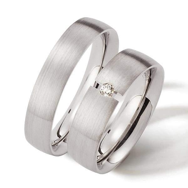 Verlobungsringe Silber Brillant Weidner 62048
