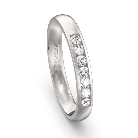 Klassischer Memoire-Ring in Weißgold