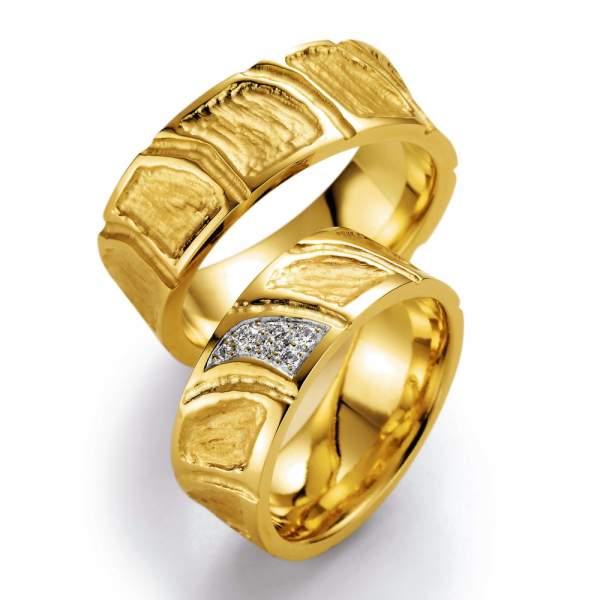 Trauringe Gelbgold Vulcano Brillant 02-23300