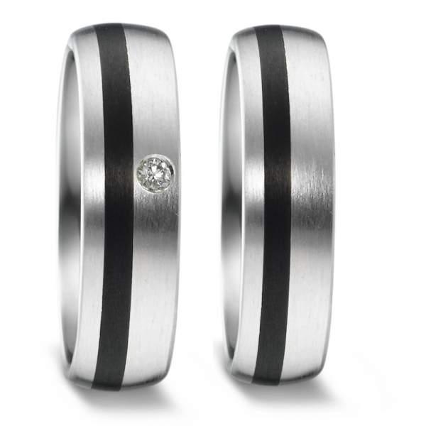 Trauringe Carbon Silber Brillant Weidner 62630