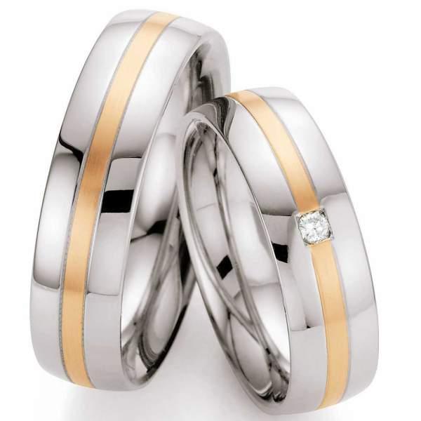 Trauringe Steel Gold Brillant 88/01370