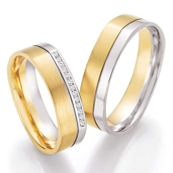 Trauringe Gold Honeymoon Solid Brillant 66-45010