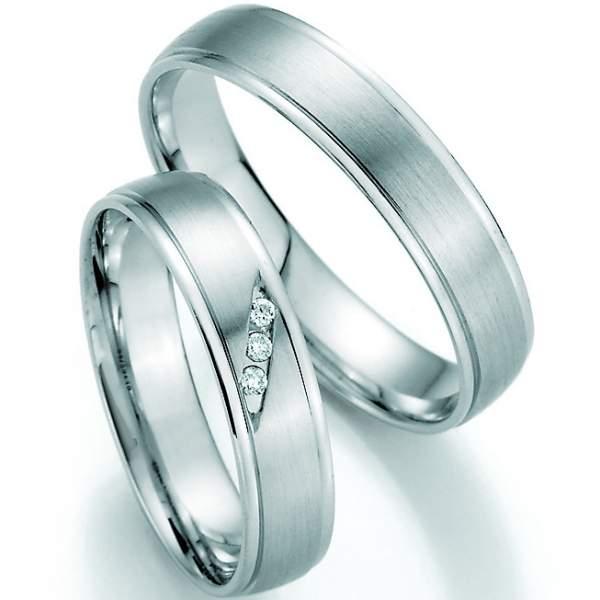 Trauringe Weißgold Honeymoon Pure Brillant 66-30110