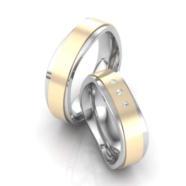 Trauringe Gold Edelstahl Brillant ID1483