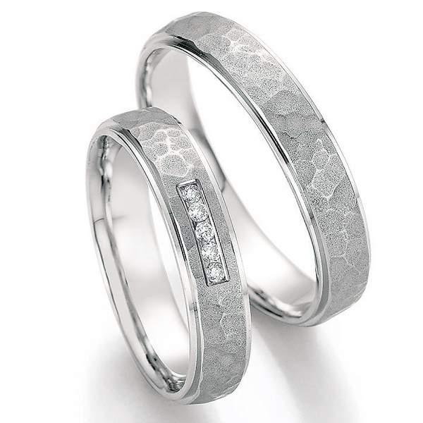 Trauringe Weißgold Honeymoon Infinity Brillant 66-35150