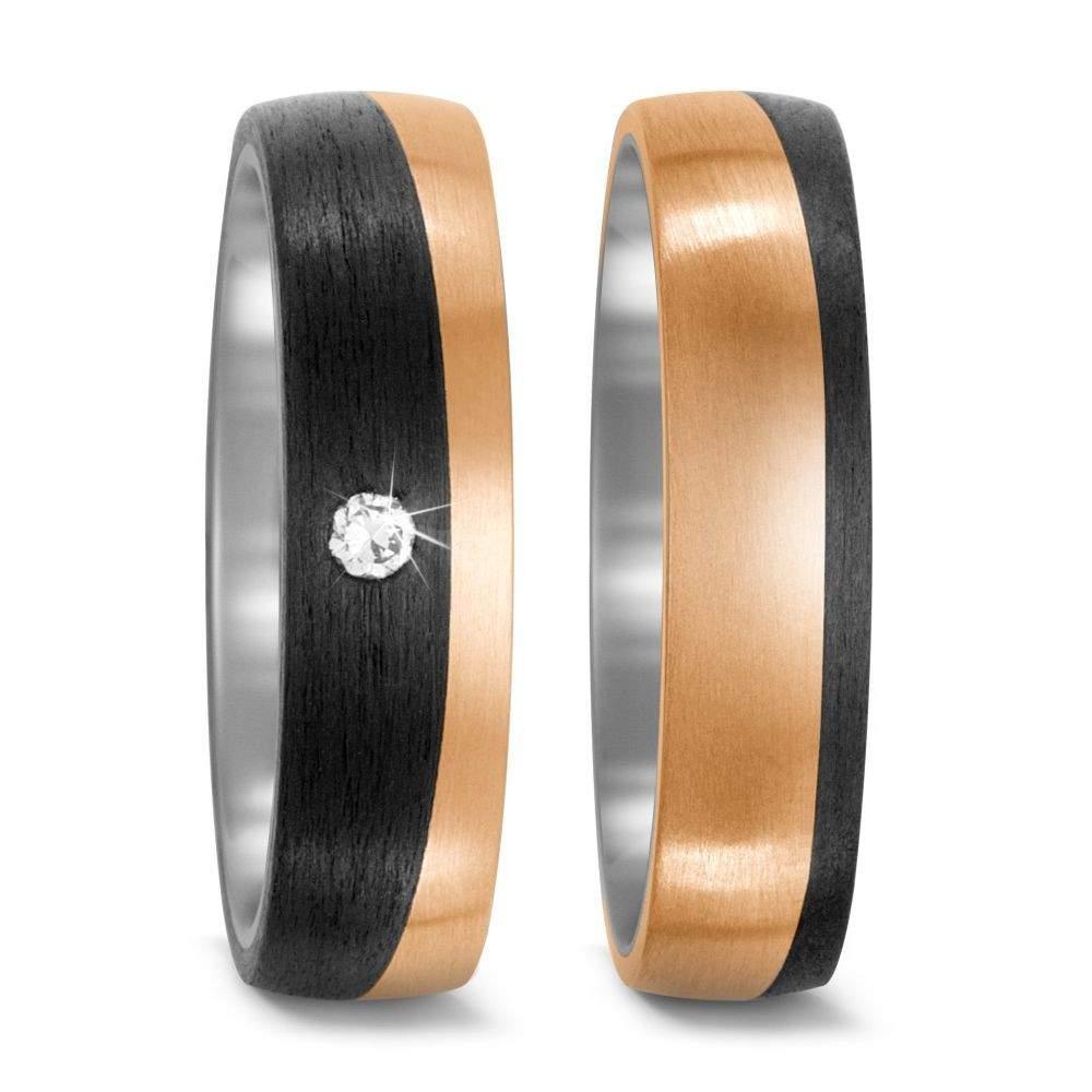 Bicolor-Ringe Rotgold und Titan