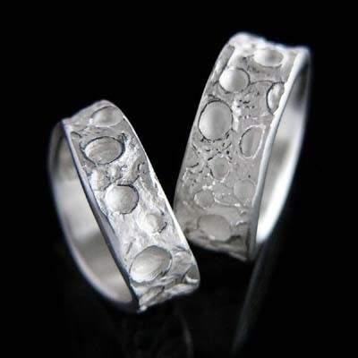 Trauringe Silber Natur im Design - Lotoskolben