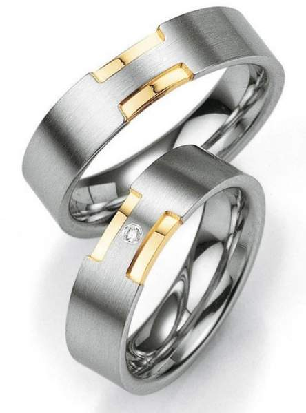 Verlobungsringe Silber Brillant Breuning 48/08007
