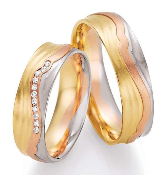 Trauringe Gold Palladium Sunrise Brillant 66-44170