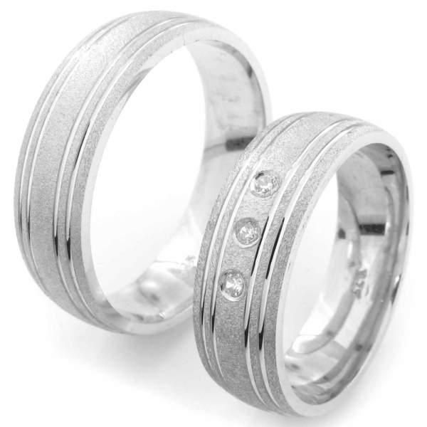 Verlobungsringe Silber Zirkonia Cilor CRG18