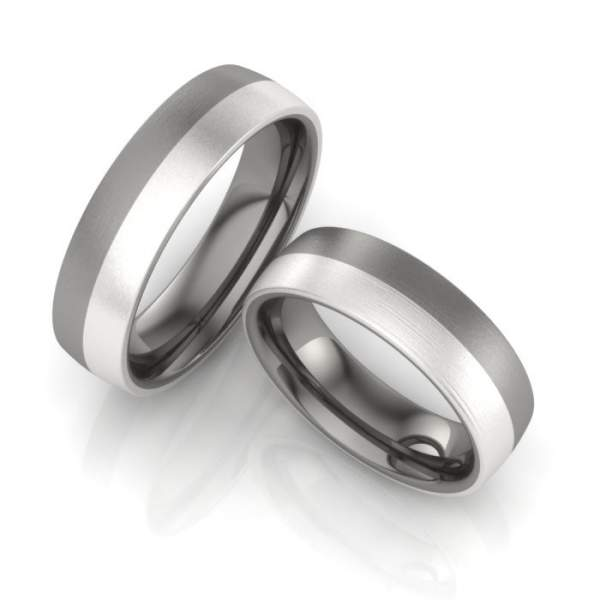 Verlobungsringe Titan Silber ID1081