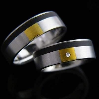Trauringe Edelstahl Gold Brillant SCHOOP.Design R30-R31