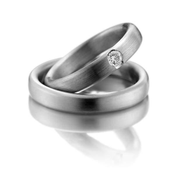 Verlobungsringe Silber Brillant Weidner 61086