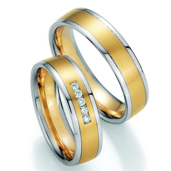 Trauringe Gold Platin Honeymoon Variation Brillant 66-40050
