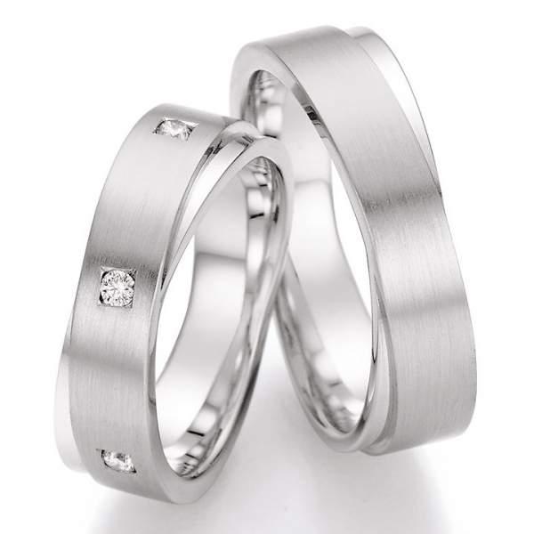 Trauringe Palladium Honeymoon Solid Brillant 66-42010