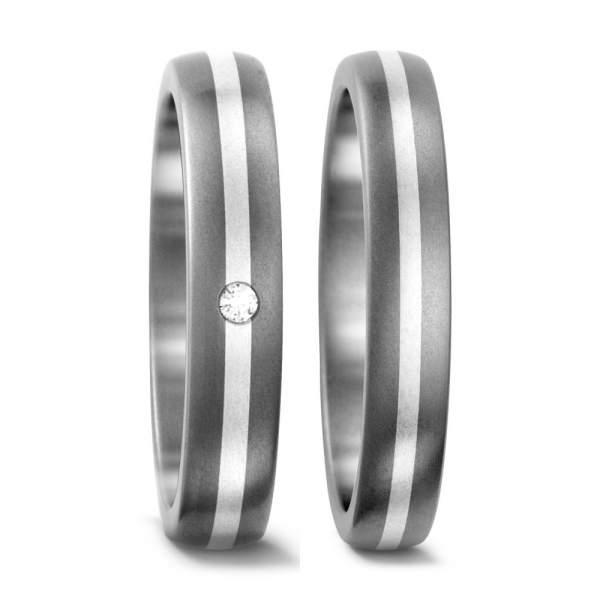 Verlobungsringe Silber Brillant Titan Factory 50103