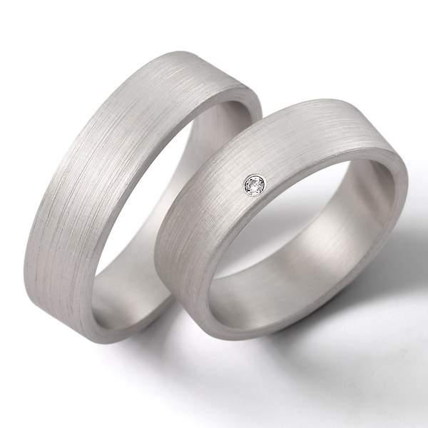 Verlobungsringe Silber Brillant Weidner 62171