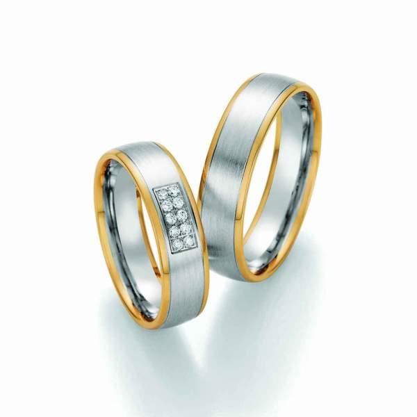 Trauringe Bicolor Honeymoon Visions Brillant 66-37050