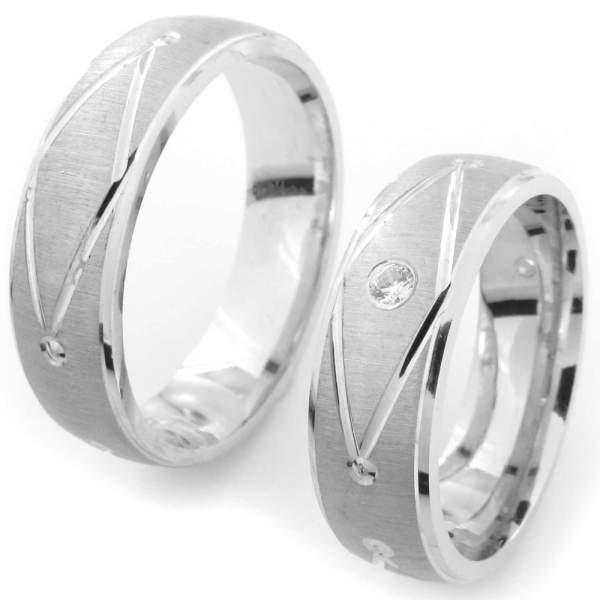 Verlobungsringe Silber Zirkonia Cilor CRG11