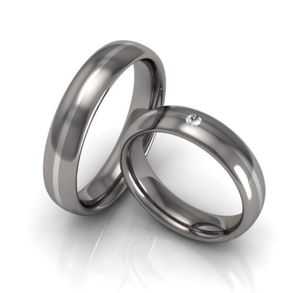Verlobungsringe Titan Silber ID931