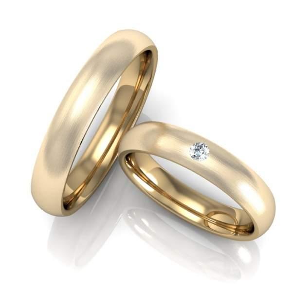 Trauringe Gold Brillant ID845