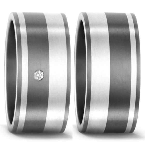 Trauringe Silber Brillant Titan Factory 50933