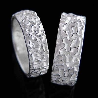 Trauringe Silber Natur im Design - Alunuss