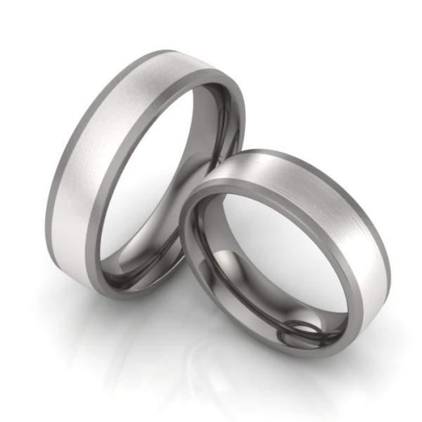 Verlobungsringe Edelstahl Titan ID1085