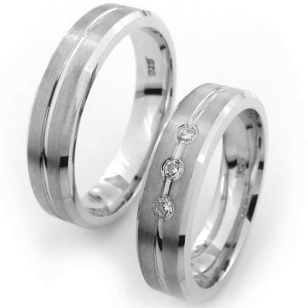 Verlobungsringe Silber Zirkonia Cilor CRG07