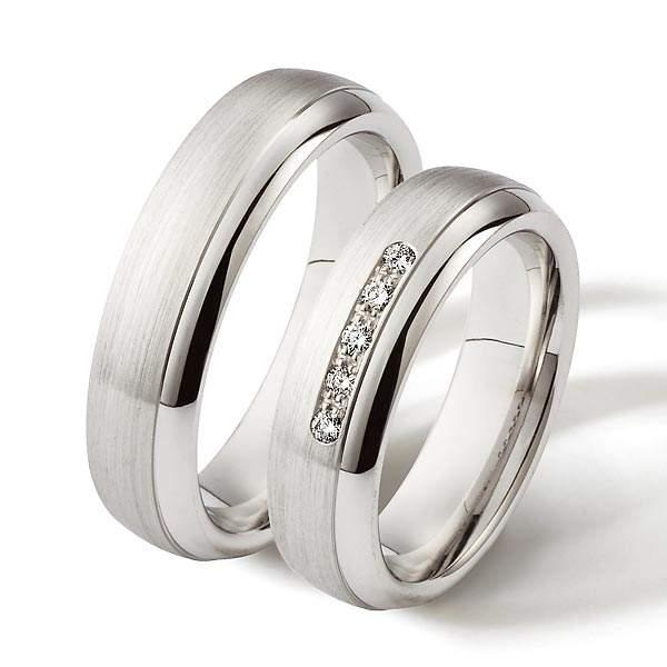 Verlobungsringe Silber Brillant Weidner 62057