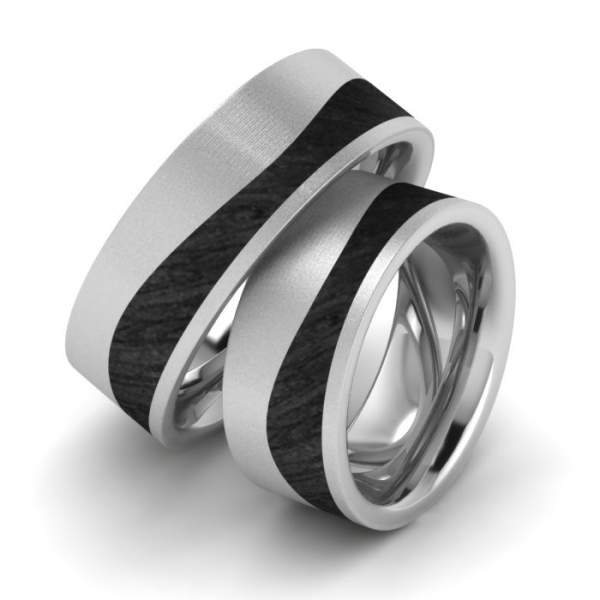 Individuelle Verlobungsringe Edelstahl Carbon Kaufen